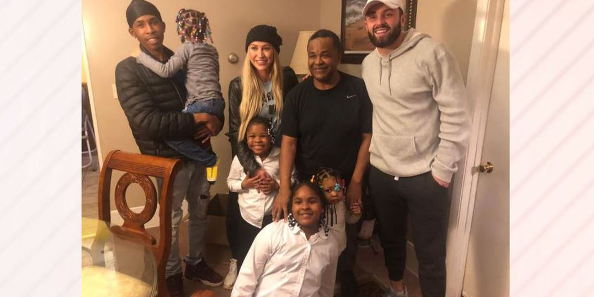 Baker Mayfield tries new position, becomes Secret Santa in Newburgh Heights