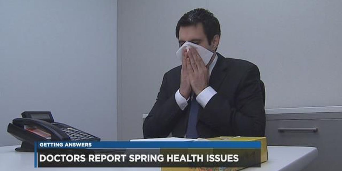 Cold, then warm, then cold again weather causing allergy problems