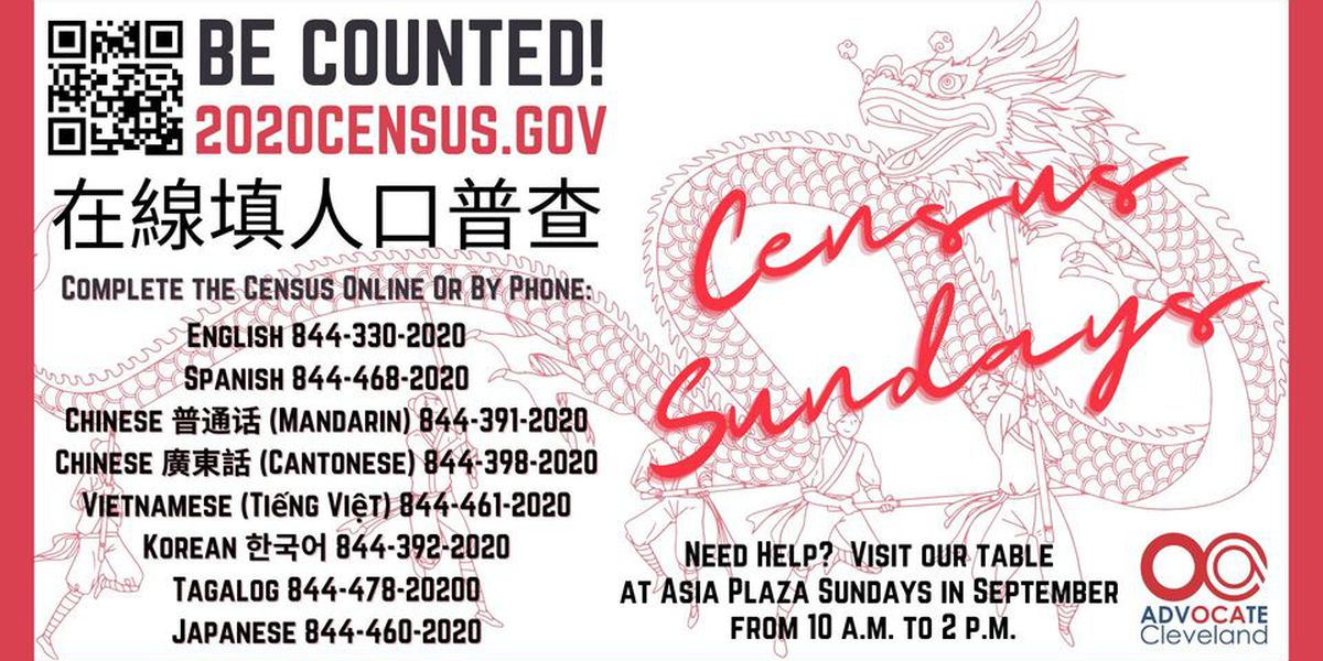 Get help with census, vote-by-mail and voter registration at Census Sundays