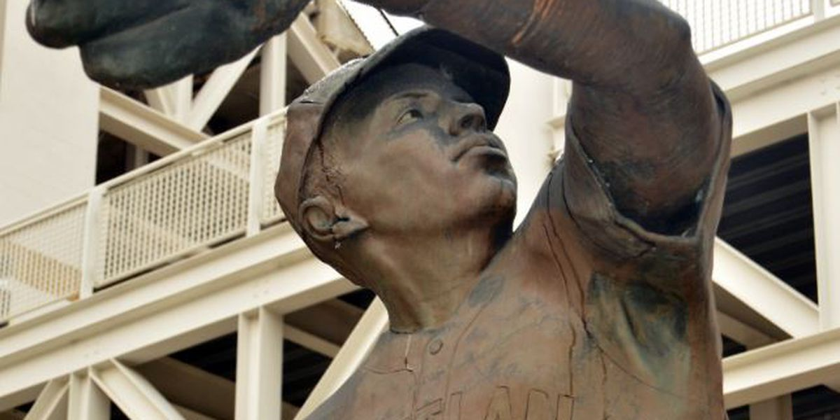 What's the story behind the iconic statues outside Progressive Field?
