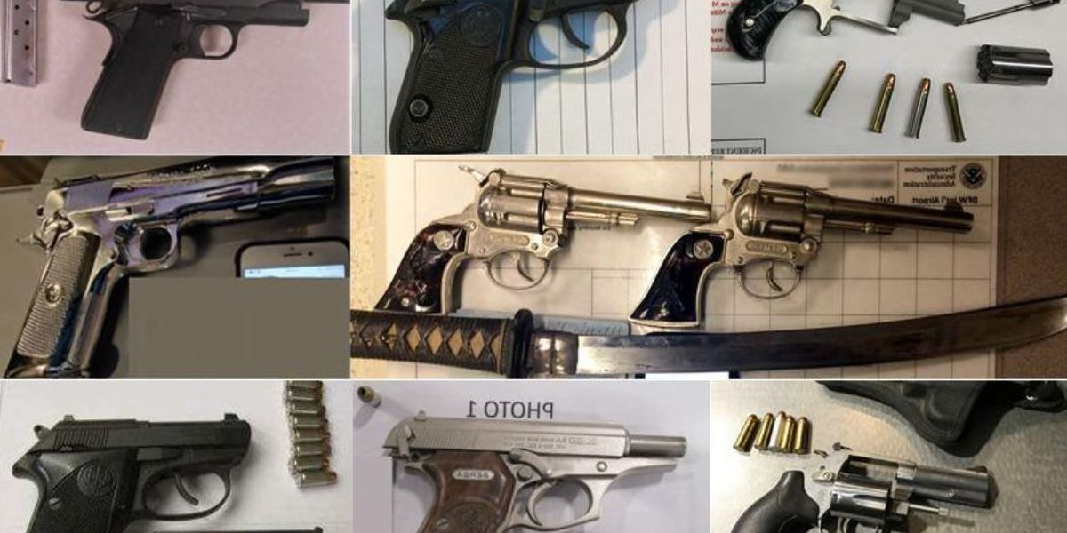 You probably don't want to know how many guns TSA keeps from getting on planes every day