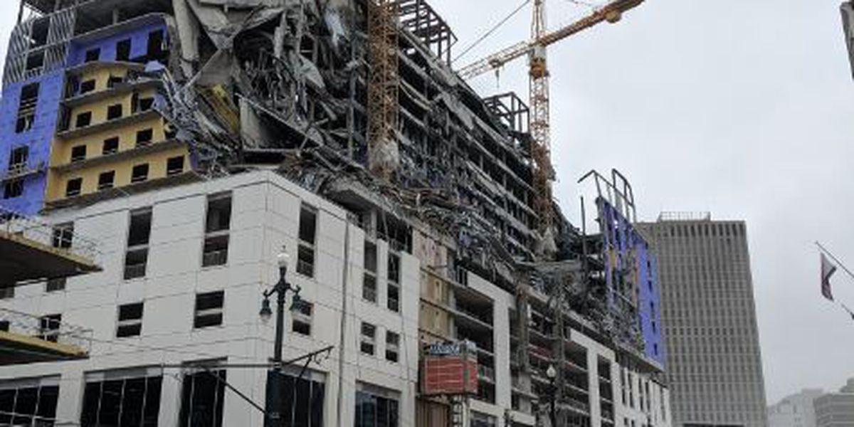 Hard Rock Hotel under construction collapses in downtown New Orleans