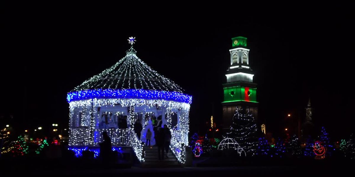 The holiday lights in Strongsville, Ohio