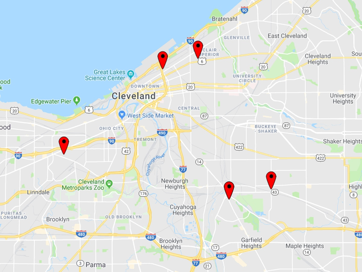 Cleveland police investigated 5 shootings in 12-hour time span