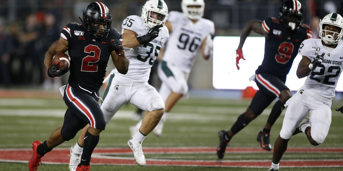 Fields, Dobbins lead No. 4 Ohio St over No. 25 Michigan St