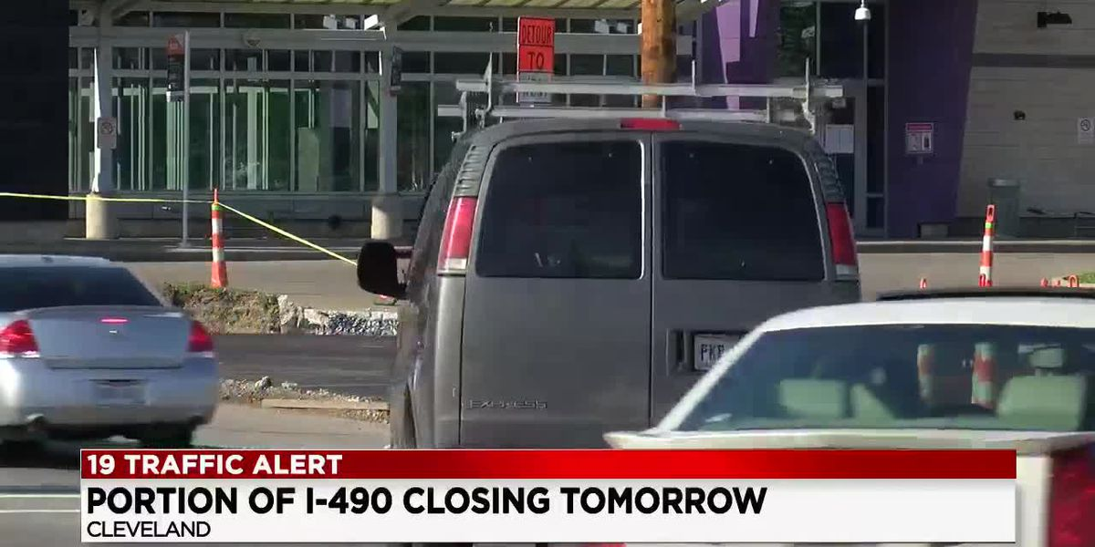 Major road construction closes part of I-490 for two years in Cleveland