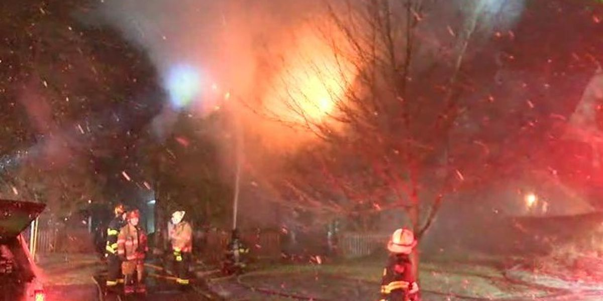 Firefighters battling house fire in Shaker Heights