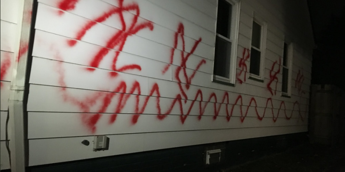 West Side home vandalized with swastikas
