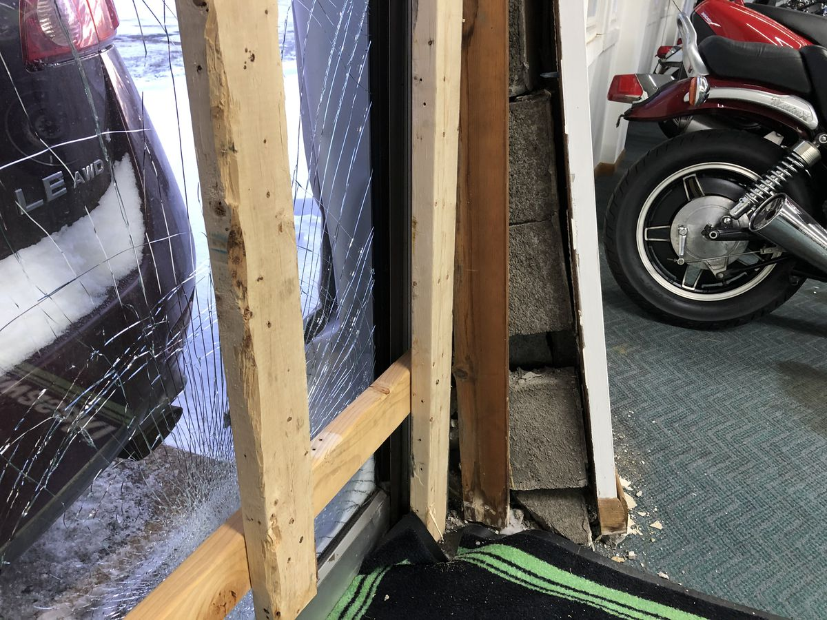 Elyria motorcycle shop owner furious after crooks ram car into her building to break in, causing thousands of dollars in damage