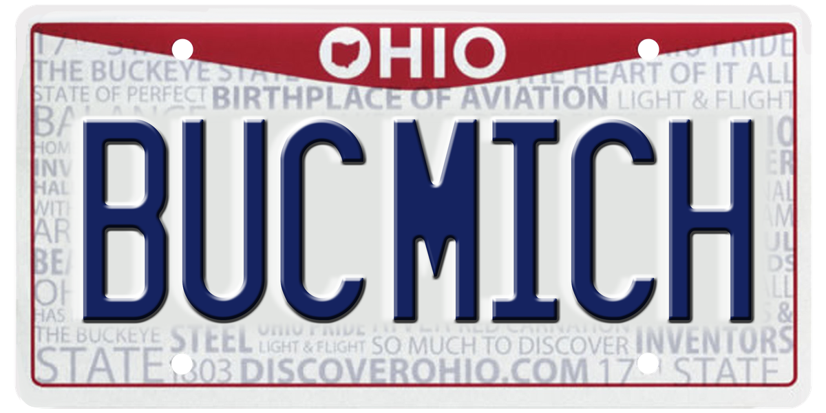 'BUC MICH' and all of the rejected vanity license plates in Ohio this year (graphic)
