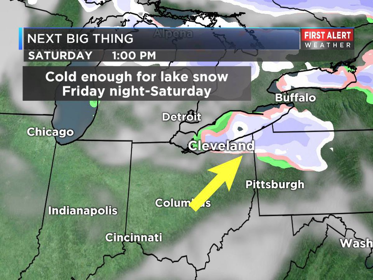 Snow, below-normal temperatures expected this weekend around Northeast Ohio