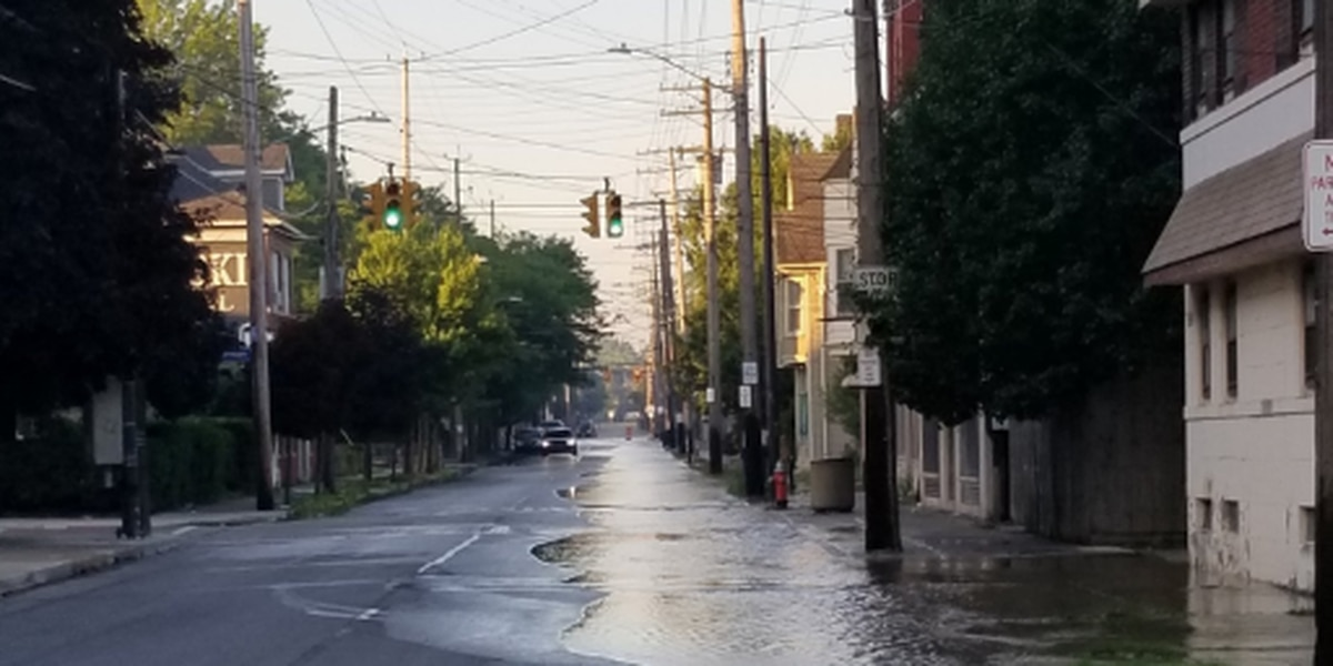 Crews working to repair water main break that flooded streets in Slavic Village