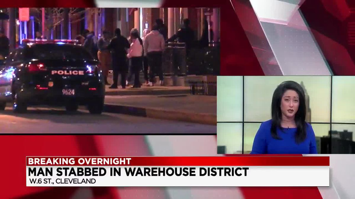 Man in critical condition after stabbing in downtown Cleveland Warehouse District