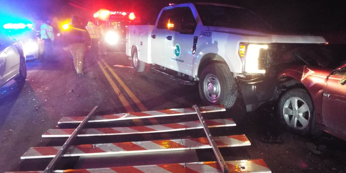 2 injured after impaired driver crashes into ODOT truck
