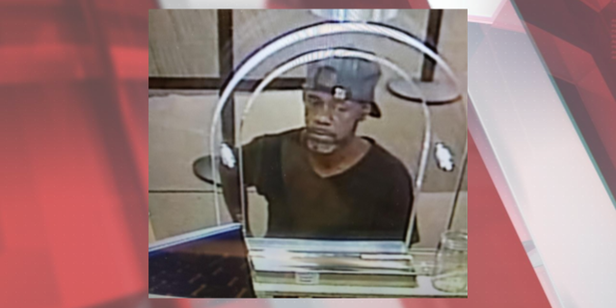 FBI searching for bank robber who handed a teller a note that included his address