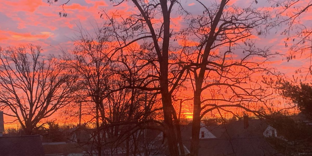 Building clouds cause spectacular sunrise Wednesday morning throughout Northeast Ohio (photos)