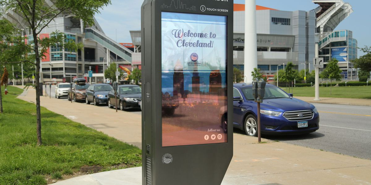 New interactive kiosks in downtown Cleveland expanding resources to those who need it most
