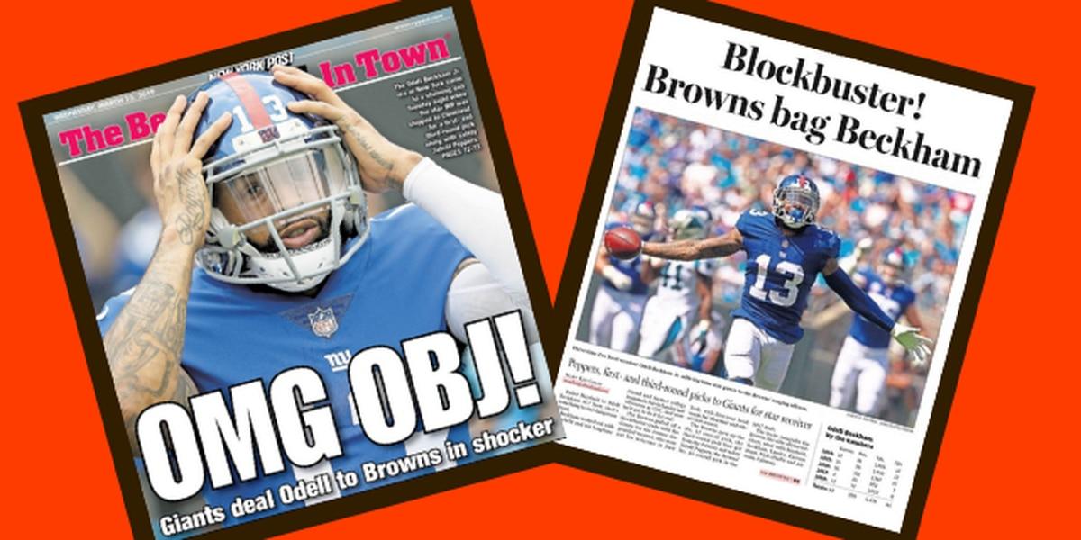 'OMG OBJ': Browns' trade for Odell Beckham Jr. headlines Cleveland, New York newspapers