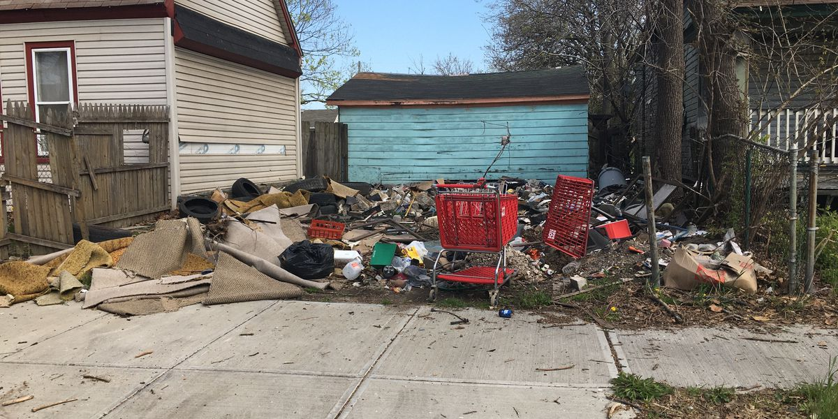 Cleveland residents complain about trash piling up at vacant property in Slavic Village