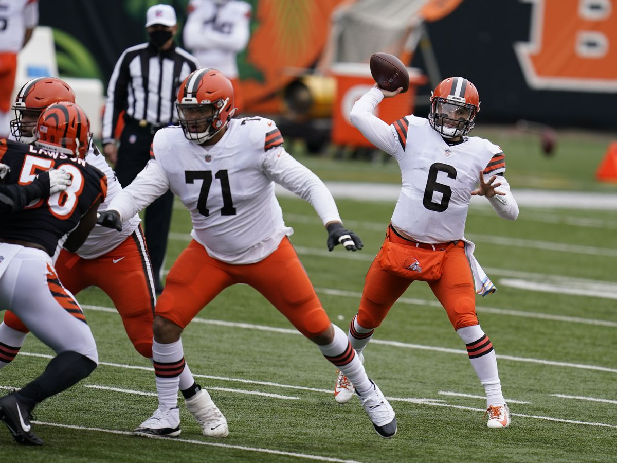 Browns QB Baker Mayfield named AFC Offensive Player of the Week following 5 touchdown performance