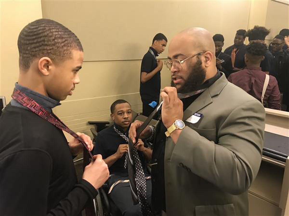 Tie tying, handshake lessons help Cleveland students prepare for life after school (photos)