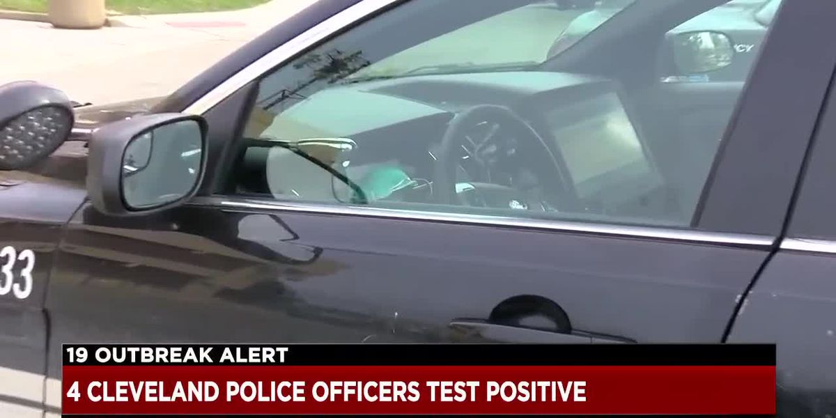 4 Cleveland police officers have tested positive for Covid-19