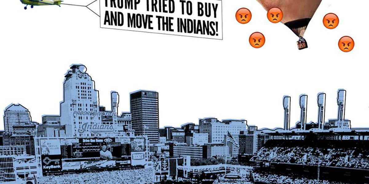 Anti-Trump banner to fly over Progressive Field before Game 1