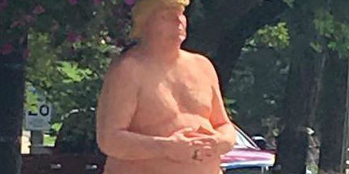 Naked Donald Trump statue, similar to one displayed in Cleveland, goes on the auction block