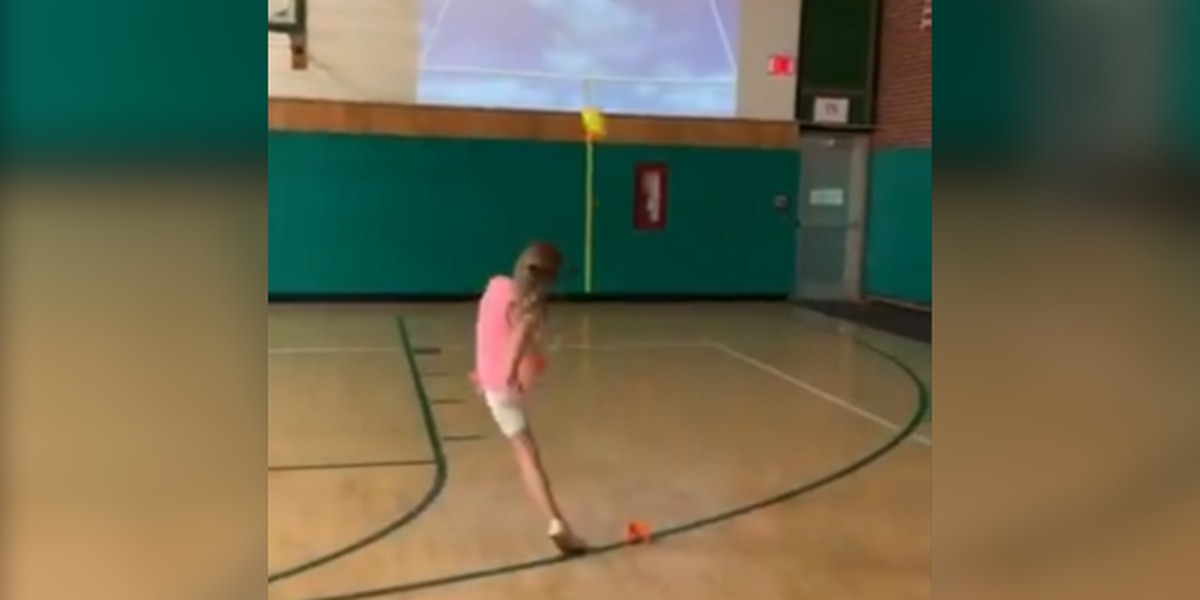 3rd grade girl nails impressive field goal kick at Canton-area school (video)