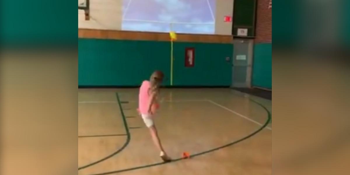 3rd grade girl nails impressive field goal kick at Canton-area school (video)