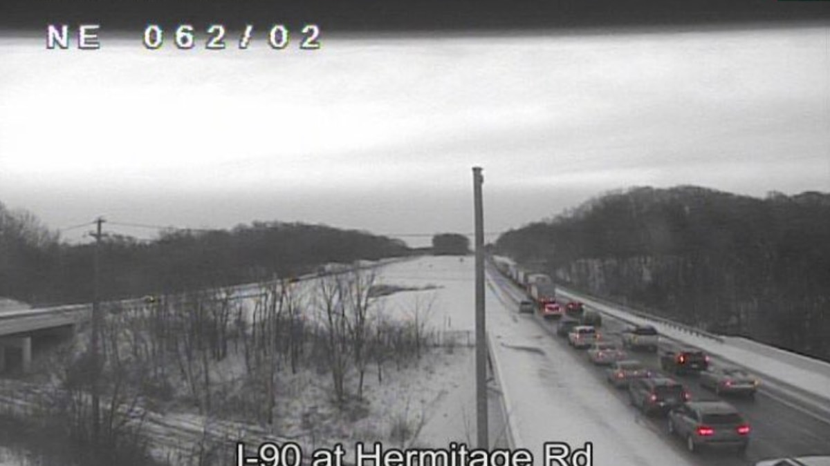 Lanes re-open on I-90 Eastbound in Lake County after accident