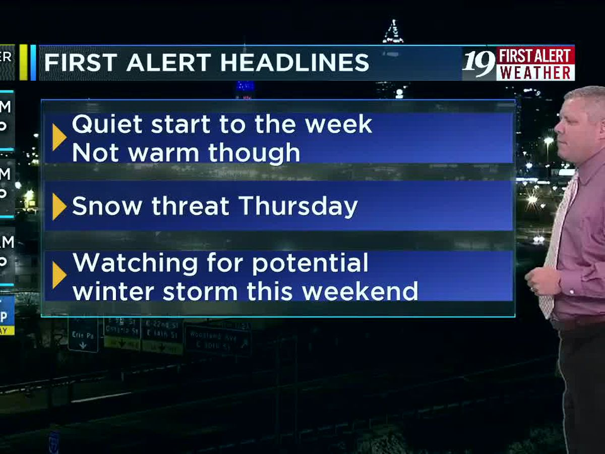 Northeast Ohio weather: Dry night ahead; closely watching the weekend
