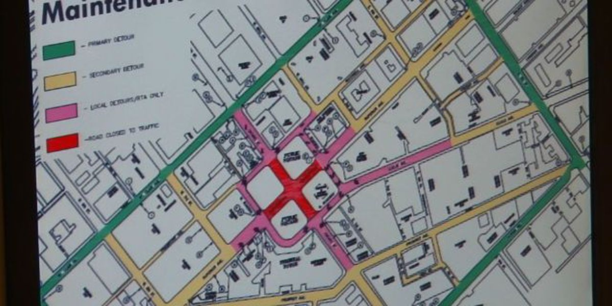 RTA's Public Square reroute plan and stop map