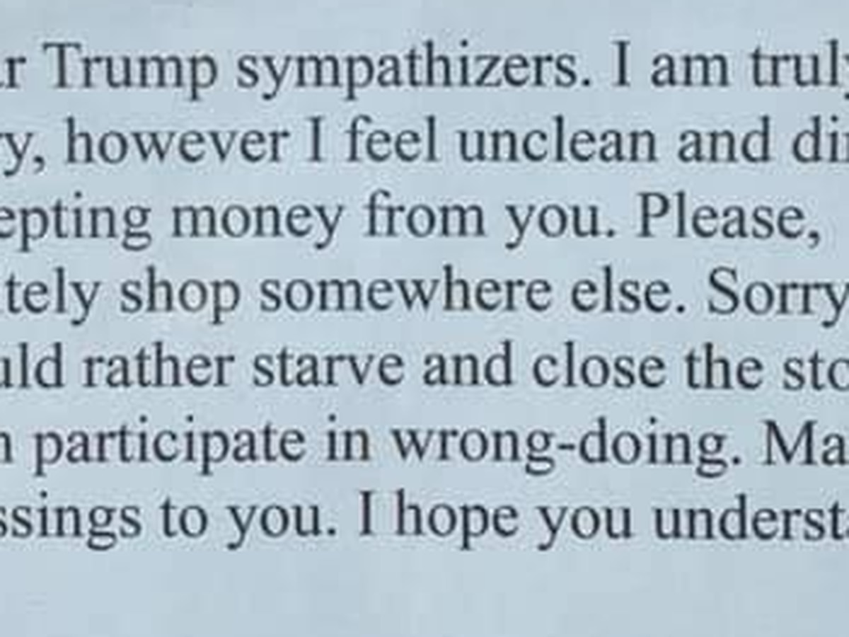 'Shop somewhere else': Trump supporters told to steer clear of Willoughby music store
