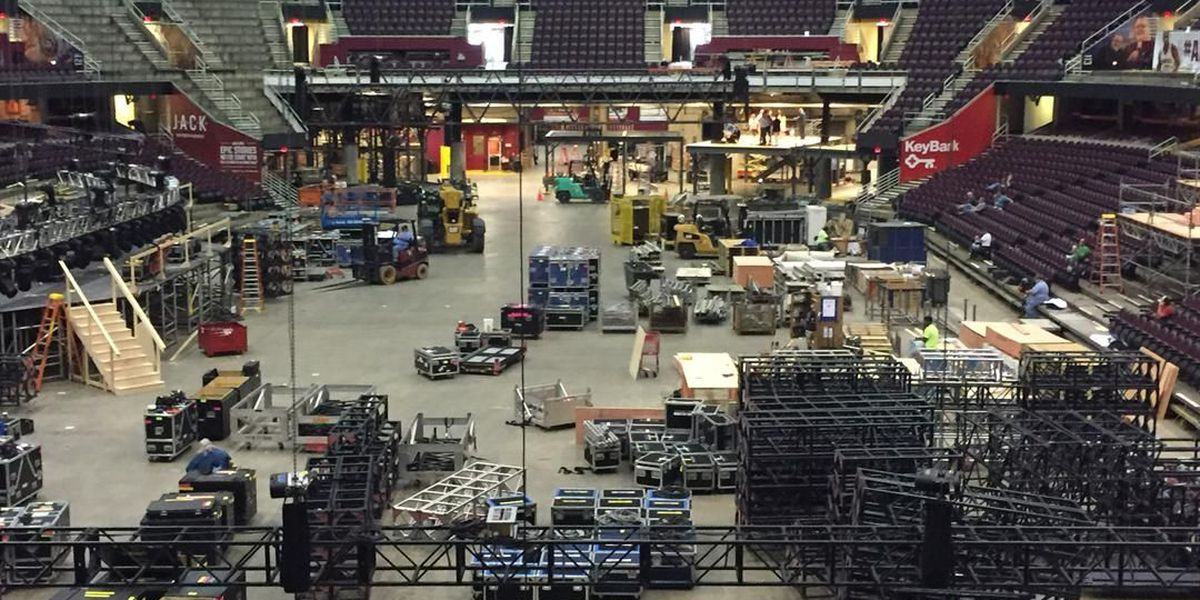 Quicken Loans Arena has completely transformed for the Republican National Convention after the Finals
