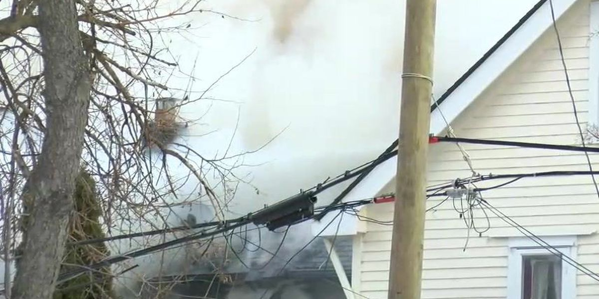 Family of 5 displaced from East Cleveland home by heavy fire