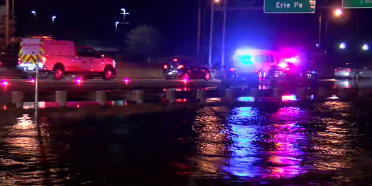 First Alert traffic: Water main break is flooding I-90 east and west, and has closed the South Marginal