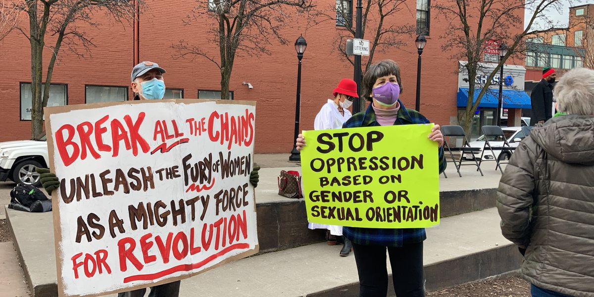 Dozens rally in Cleveland for gender equality