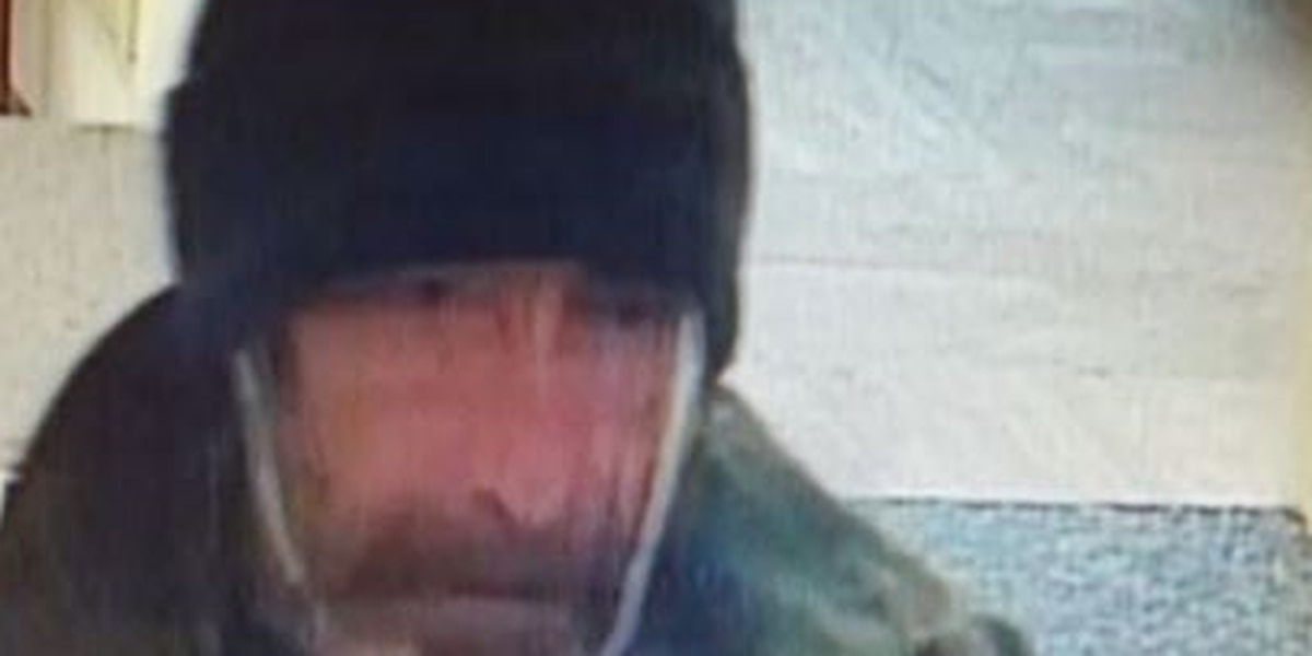 Police are looking for suspect involved in a bank robbery in Perkins Township