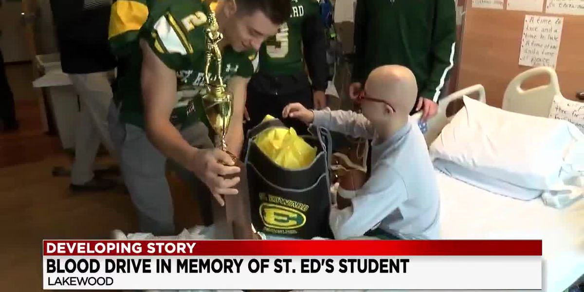 Blood drive at St. Ed's in Lakewood aims to win another championship
