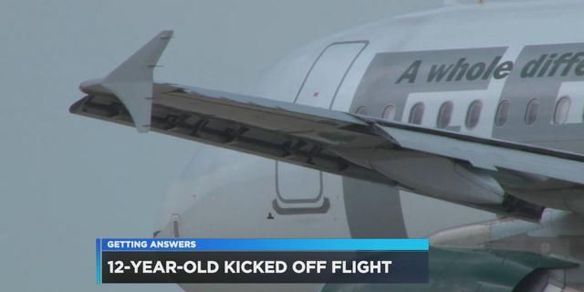 Parents say their 12-year-old son was kicked off an airplane
