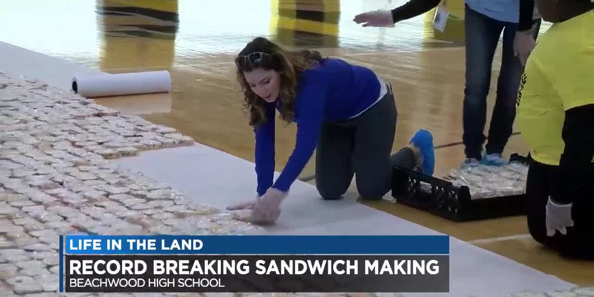 Beachwood High Student feed thousands wins world record