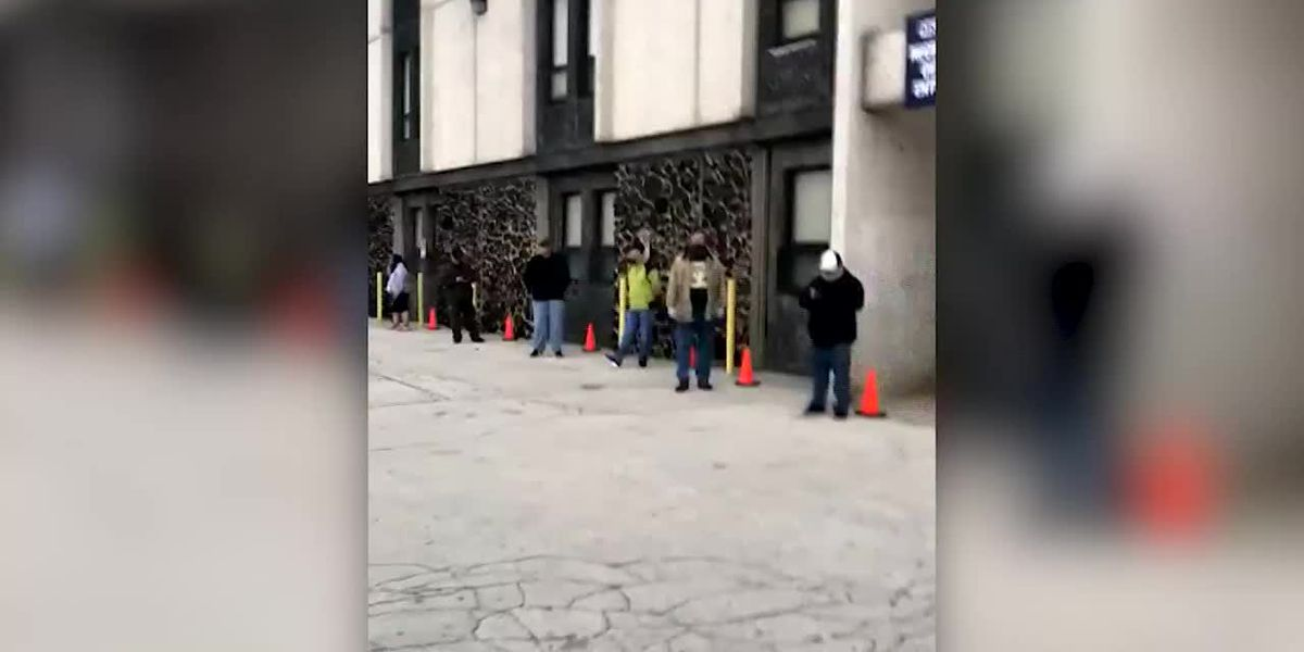Long line at Wisc. election polling site