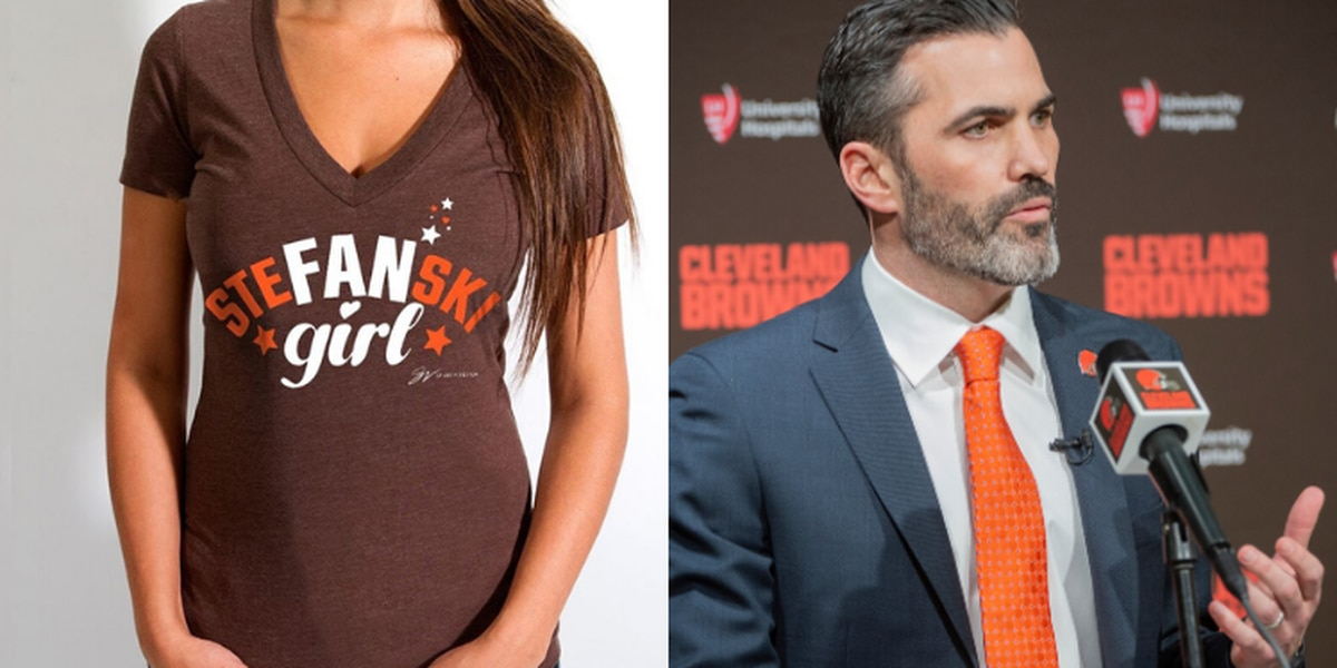 'Fan girl': GV Art & Design already has a shirt for all the admirers of new Browns head coach Kevin Stefanski