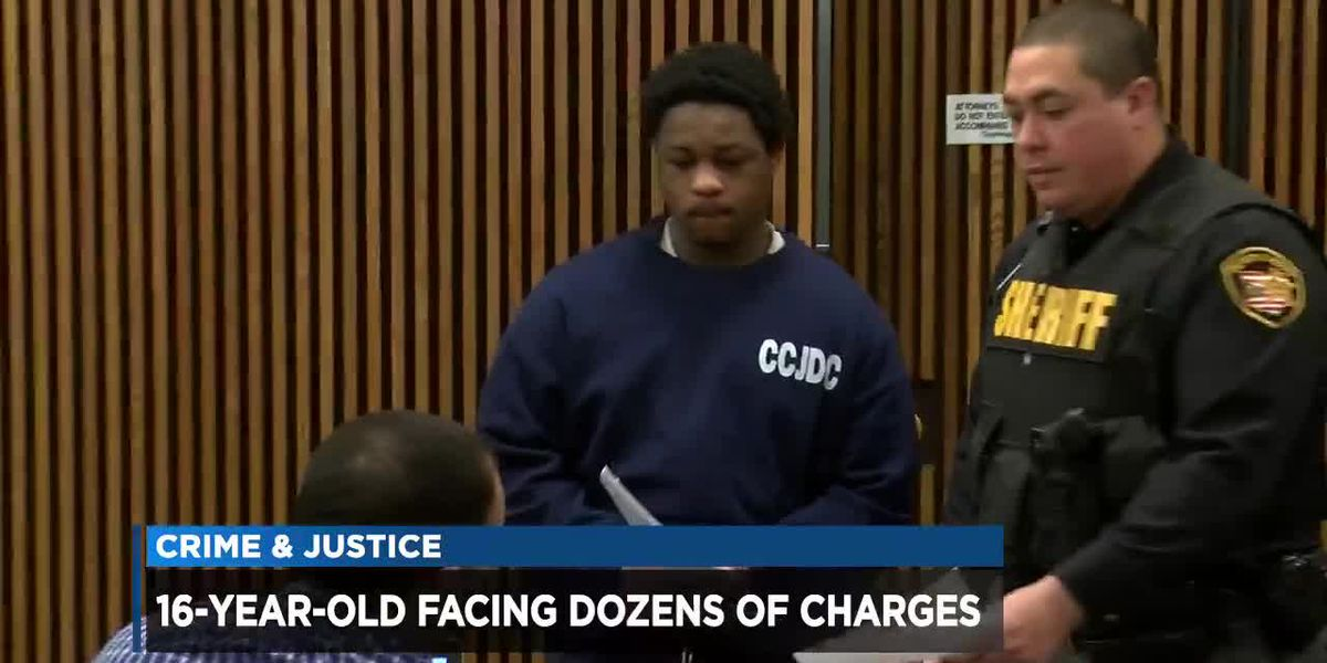16-year-old facing dozens of charges