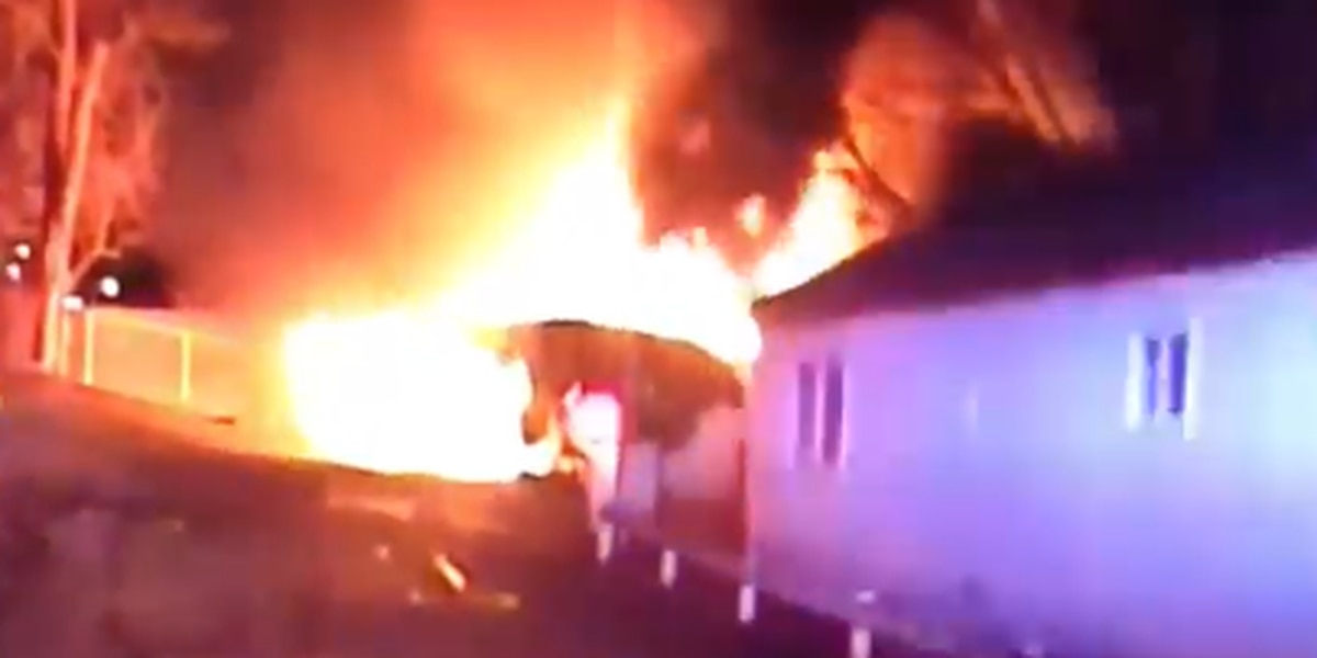 Police pull elderly man from Willowick home engulfed in flames