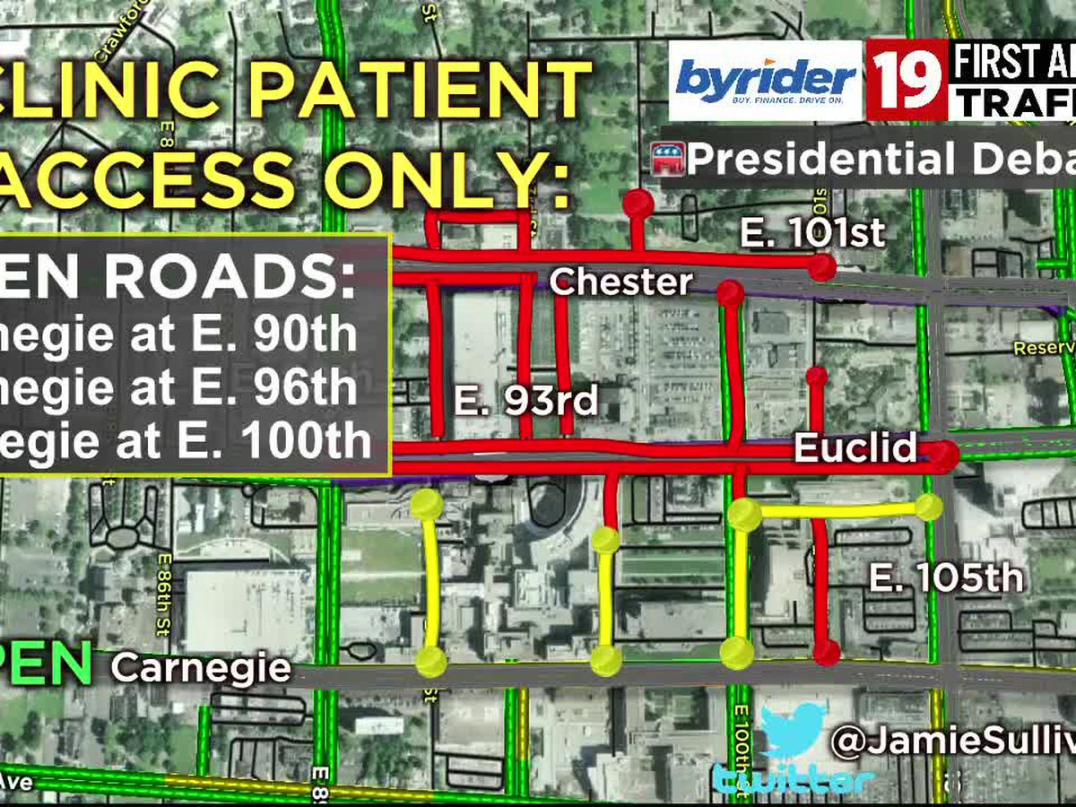 Road closures, parking bans in parts of Cleveland for debate