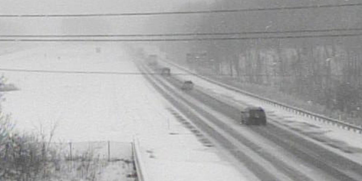 Jackknifed truck causes closure on I-90 in Lake County