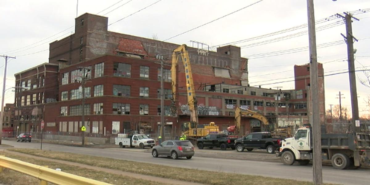 Demolition begins for two historic buildings on Cleveland's west side