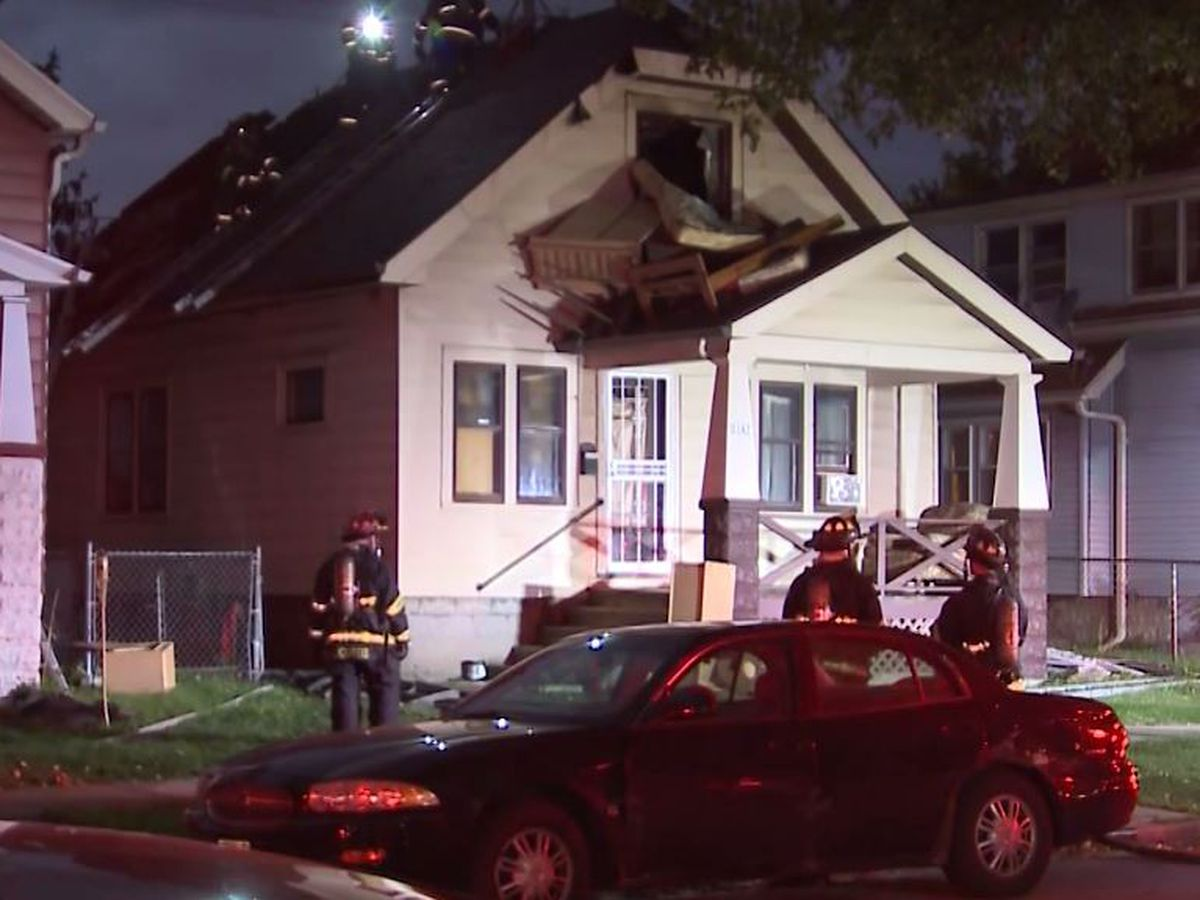 Fire crews rescue boy who crawled on roof to escape burning Milwaukee house